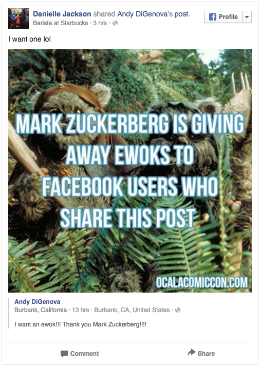 Screen Shot 2015 12 29 at 11.11.01 Thousands Of Facebook Users Thought Mark Zuckerberg Was Going To Make Them Rich