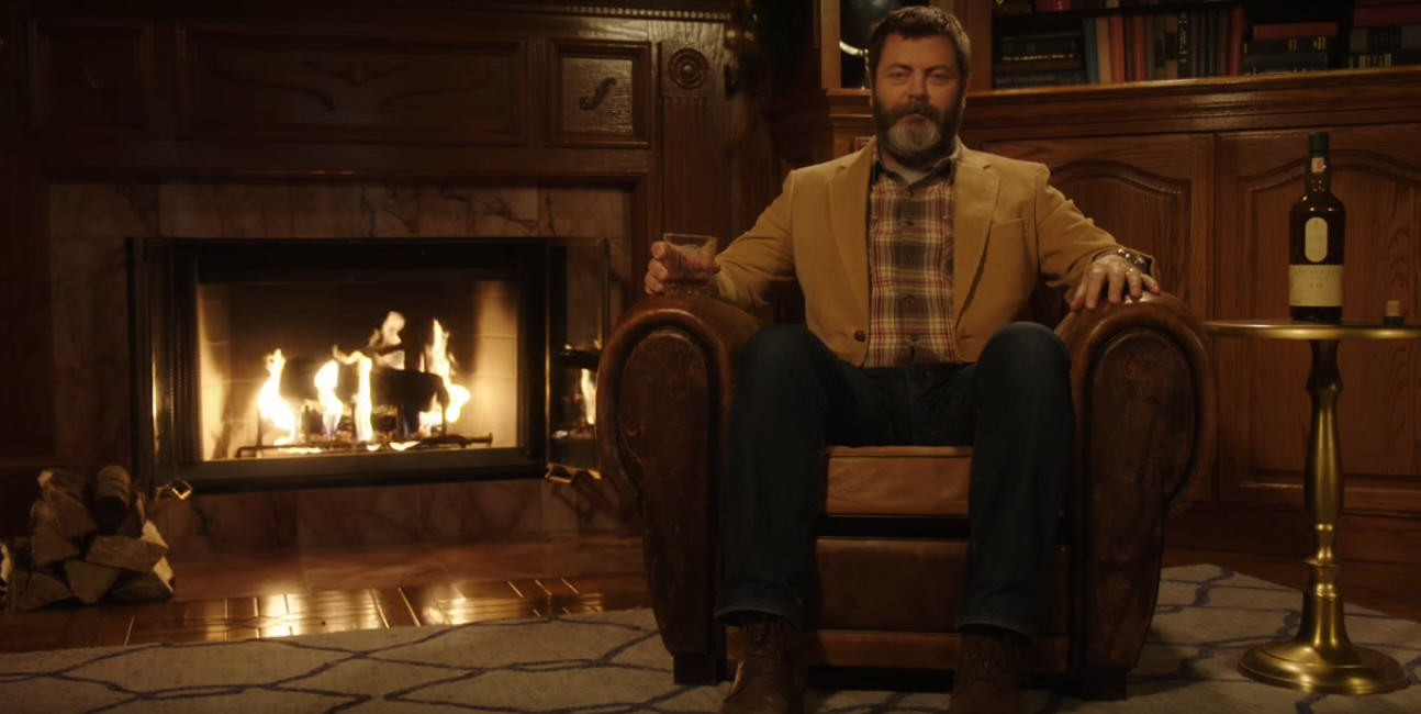 Untitled 13 Watching Ron Swanson From Parks & Rec Drink Whisky For 45 Minutes Is Gloriously Relaxing