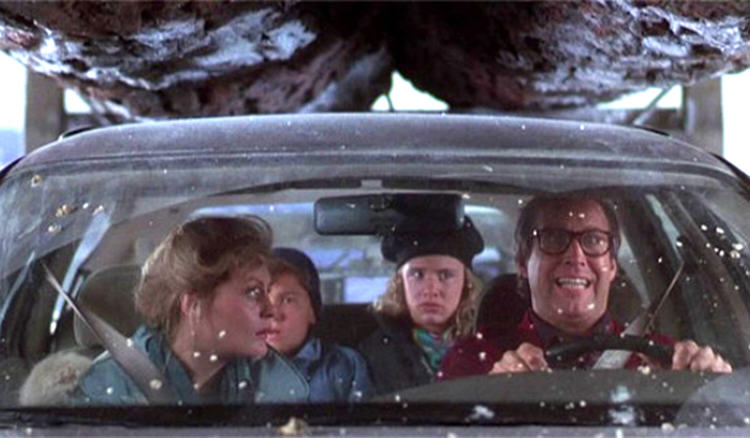 christmas vacation chevy chase family car under truck1