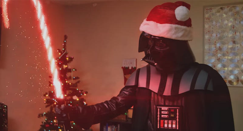 darth santa FB Darth Vader Channels Bad Santa And The Grinch In Hilarious New Video