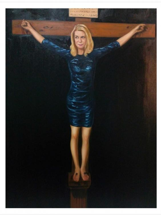 hopkins portrait Artist Crucifies Katie Hopkins To Raise Money For Syrian Refugees