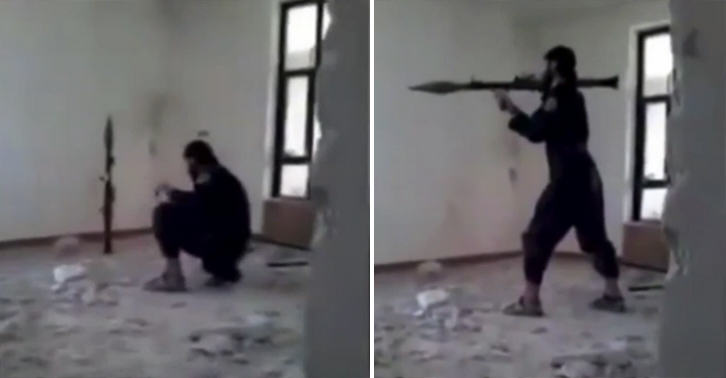 isis grenade FB ISIS Fighter Accidentally Blows Himself Up With Rocket Launcher