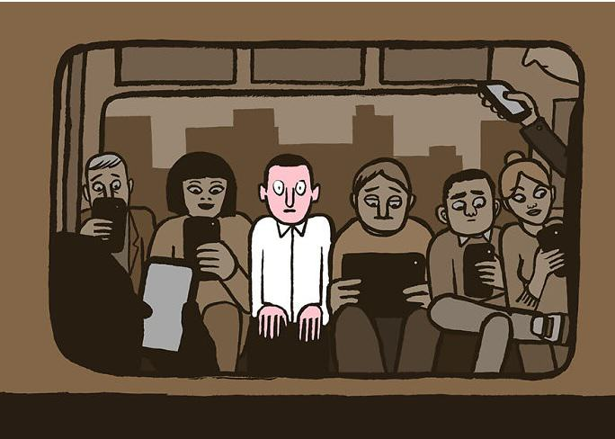 jean jullien 1 Illustrator Brilliantly Portrays How Technology Is Taking Over Our Lives