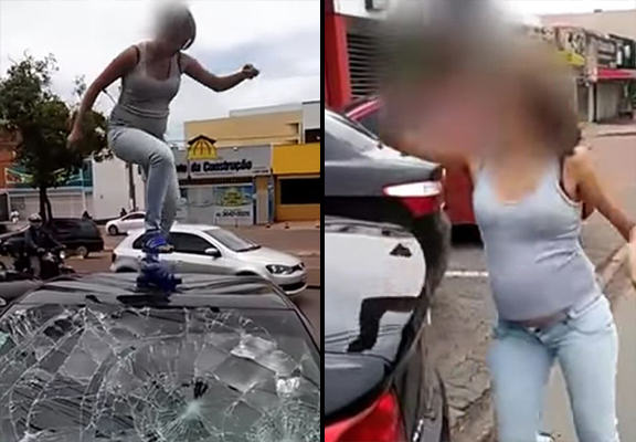 pregnant smash WEB Pregnant Woman Catches Cheating Husband With Lover, Hits Him Where It Hurts