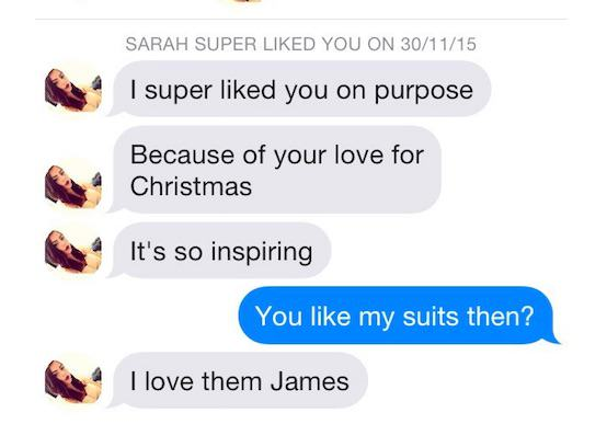 Guy Gets 1,609 Tinder Matches In One Week By Wearing Christmas Suits xmassuit11