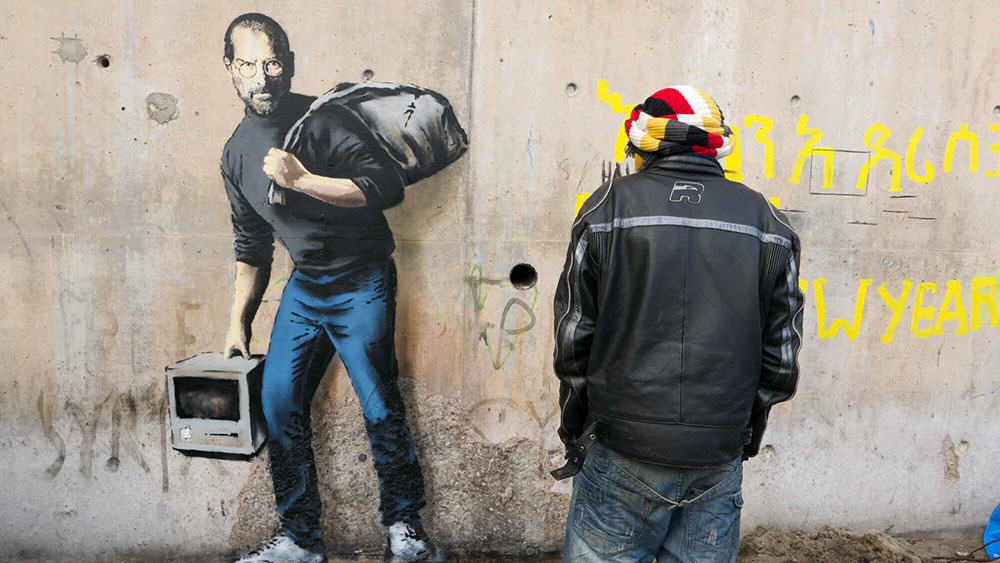 Banksy 3 Banksy Reveals New Artwork Criticising Use Of Teargas In Calais Refugee Camp