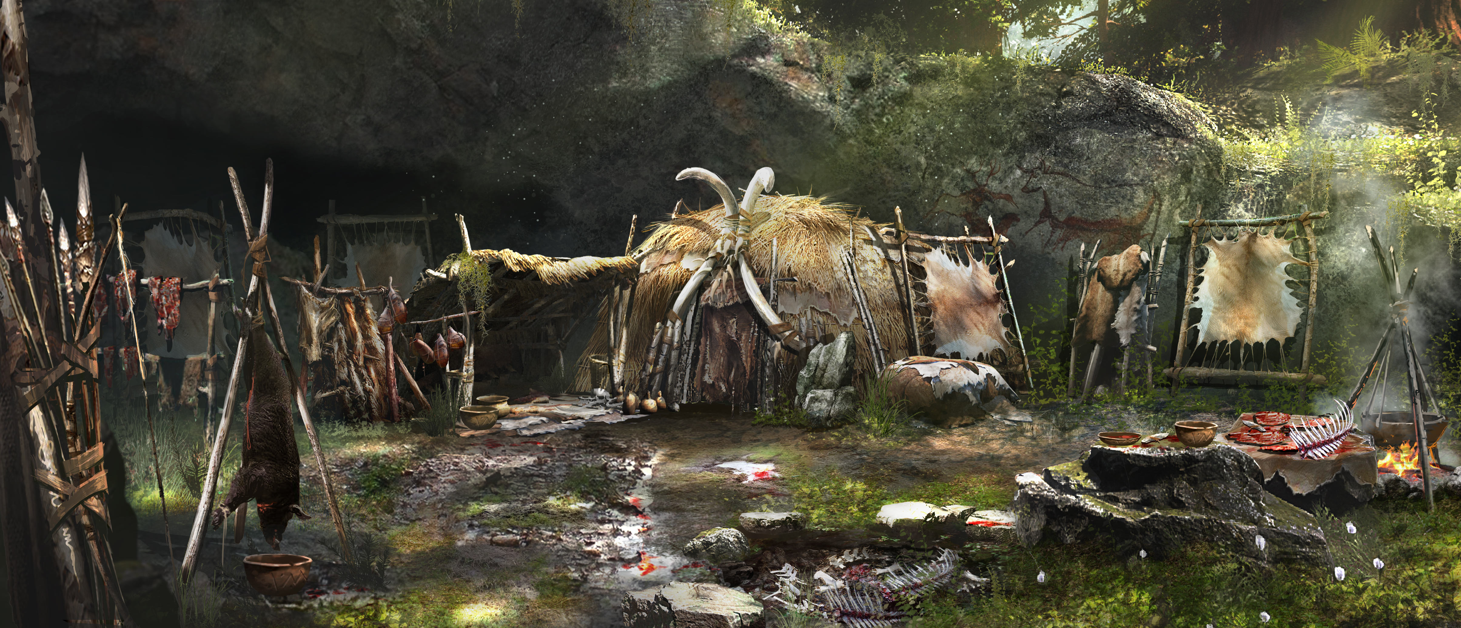 FCP 01 CONCEPT WENJA VILLAGE HUNTER HUT PREVIEW PR 160126 6pm CET 1453716175 An Exclusive Look At Far Cry Primal Ahead Of Release Day