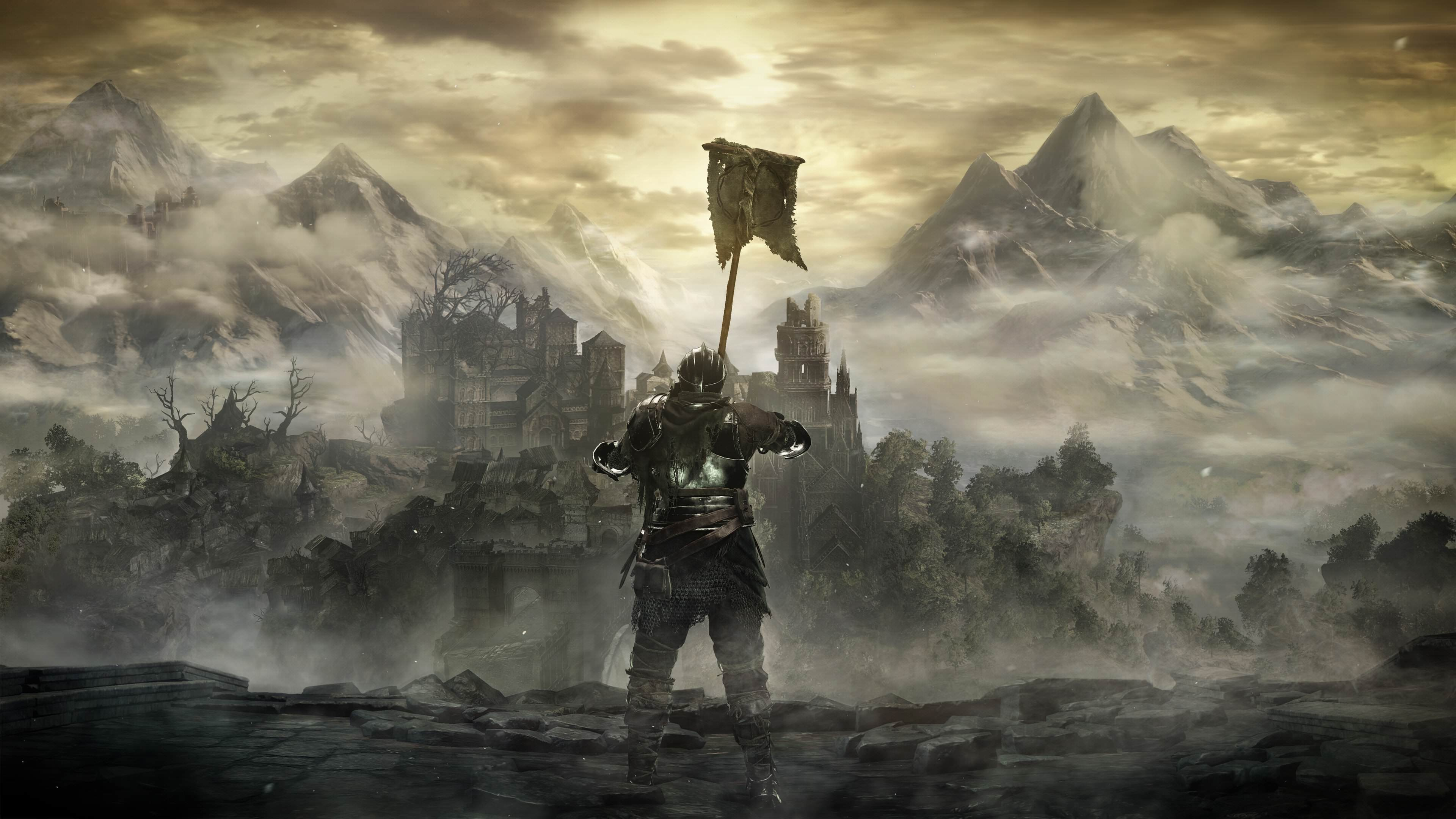 New Dark Souls 3 Screenshots Reveal All Kinds Of New Info Rasing flag below High Wall of Lethric noscale