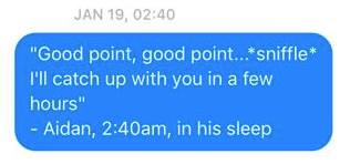 Wife Sends Hilarious Messages To Husband Quoting His Sleep Talk Screen Shot 2016 01 05 at 20.28.44