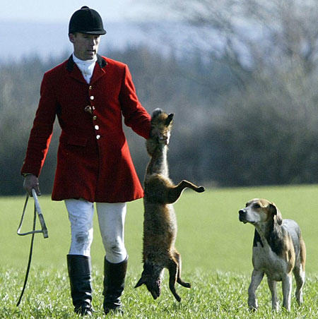 fox hunting pic pa 161062217 Anonymous Target Prodigy Frontman For Allegedly Hunting Animals