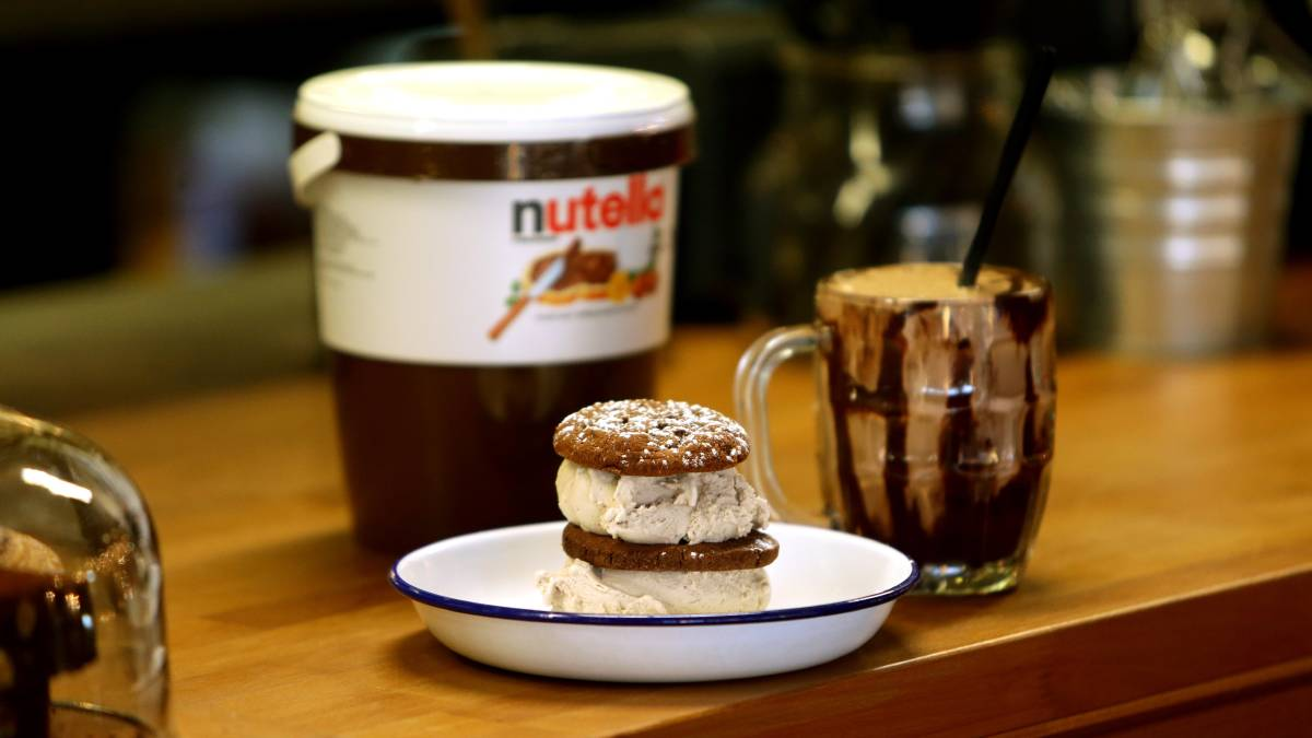 Introducing The Fried Maltella Deep Fried Nutella Ice Cream Ball nutella1 1