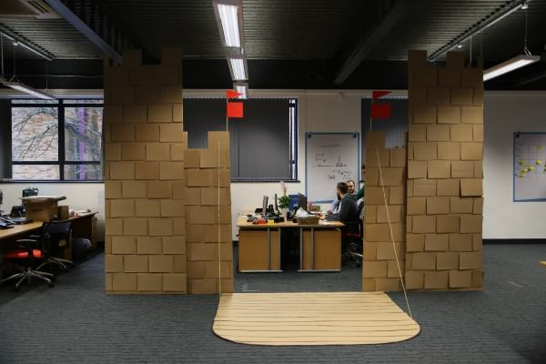 These Guys Took Decorating Their Office To An Incredible Level office fort 1