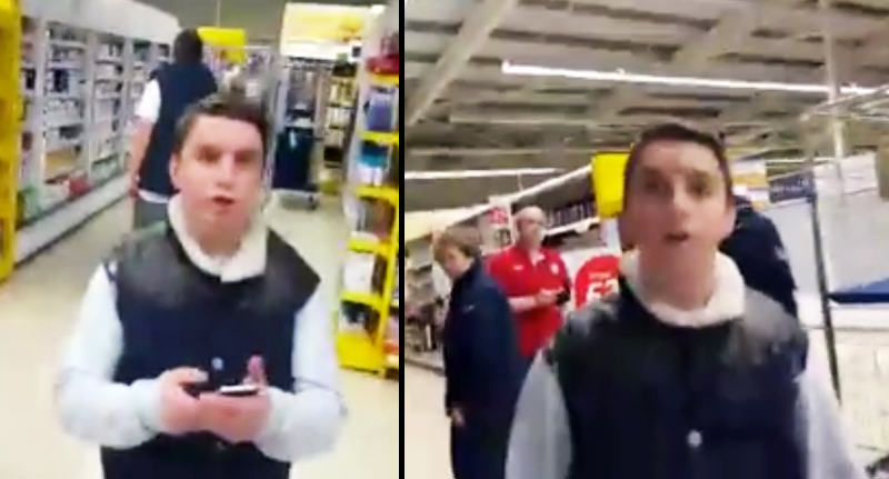 opuhwef Man Confronts Teenagers In Tesco After They Scratch His Car