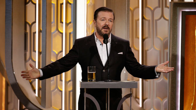 ricky gervais hosting golden globes 2016 Did Ricky Gervais Go Too Far At The Golden Globes Or Are People Oversensitive?