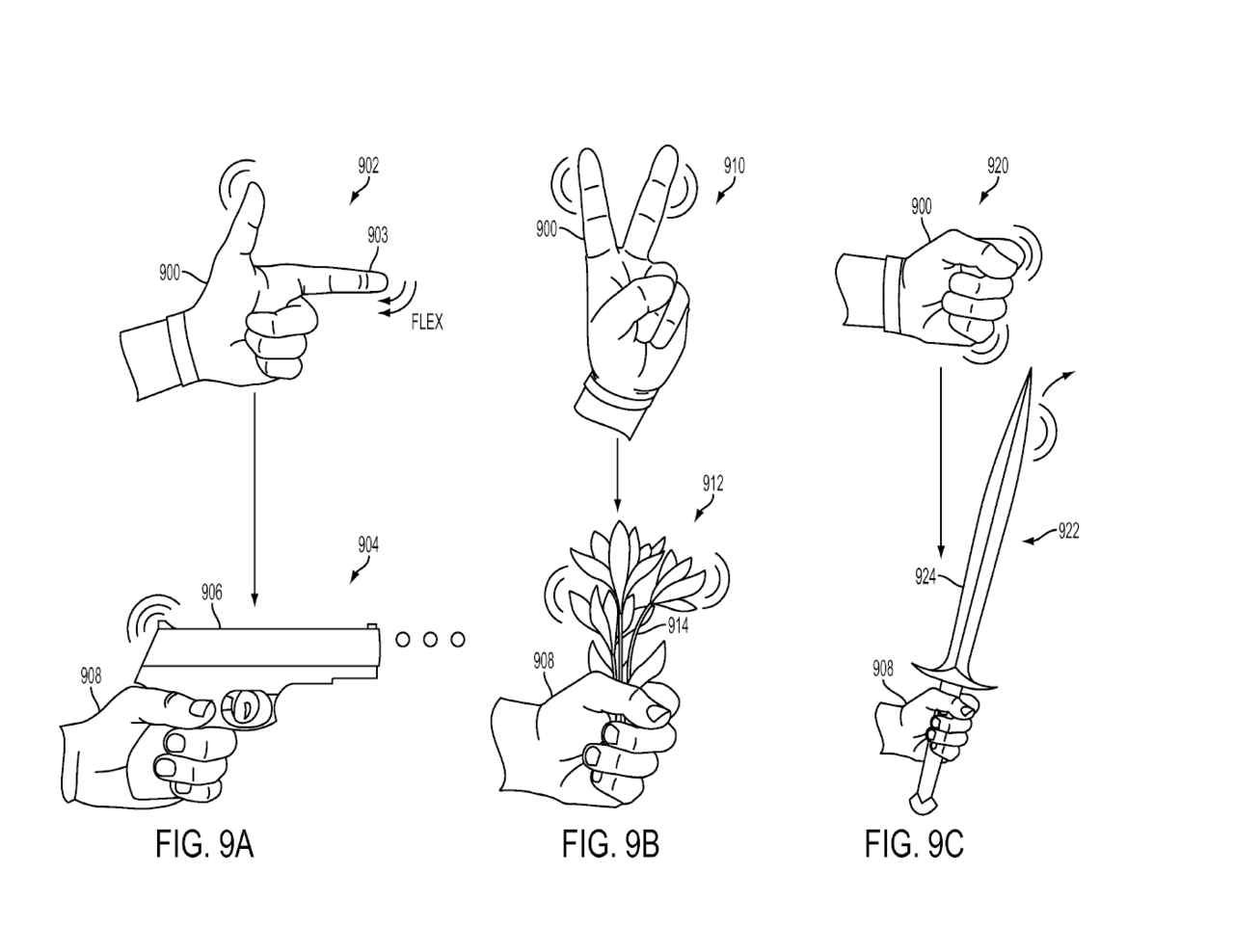 3013722 2 Sony File Patent For New PlayStation Glove Controller