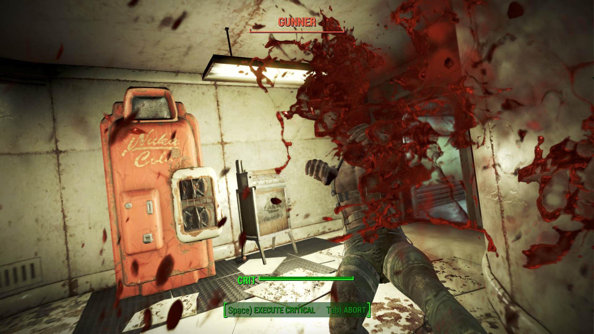 Details Emerge For Fallout 4s Brutal New Survival Mode Fallout 4 VATS gore