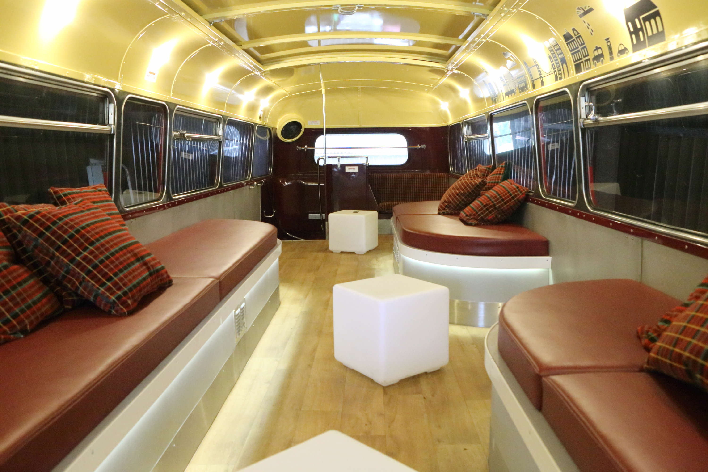 SWNS PARTY BUS 15 1 Guy Turns Bus Into Movable Pub And It Looks Incredible