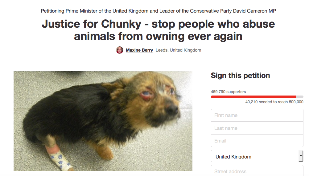Screen Shot 2016 02 20 at 19.15.52 Over 450,000 People Sign Petition Calling For Animal Cruelty Register