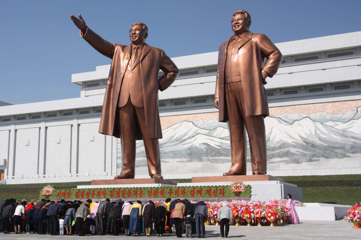 Kim Jong un Could Be Kicked Out Of North Korea By Military The statues of Kim Il Sung and Kim Jong Il on Mansu Hill in Pyongyang april 2012 1200x800