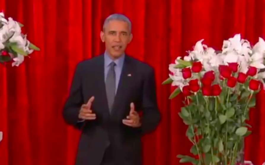 obama Barack Obama Delivers Funny Valentines Message To His Wife Michelle