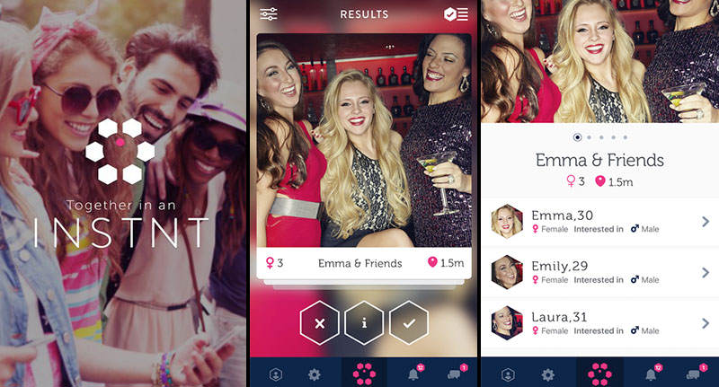 triple image Wingman Your Whole Squad With This New Tinder Style App