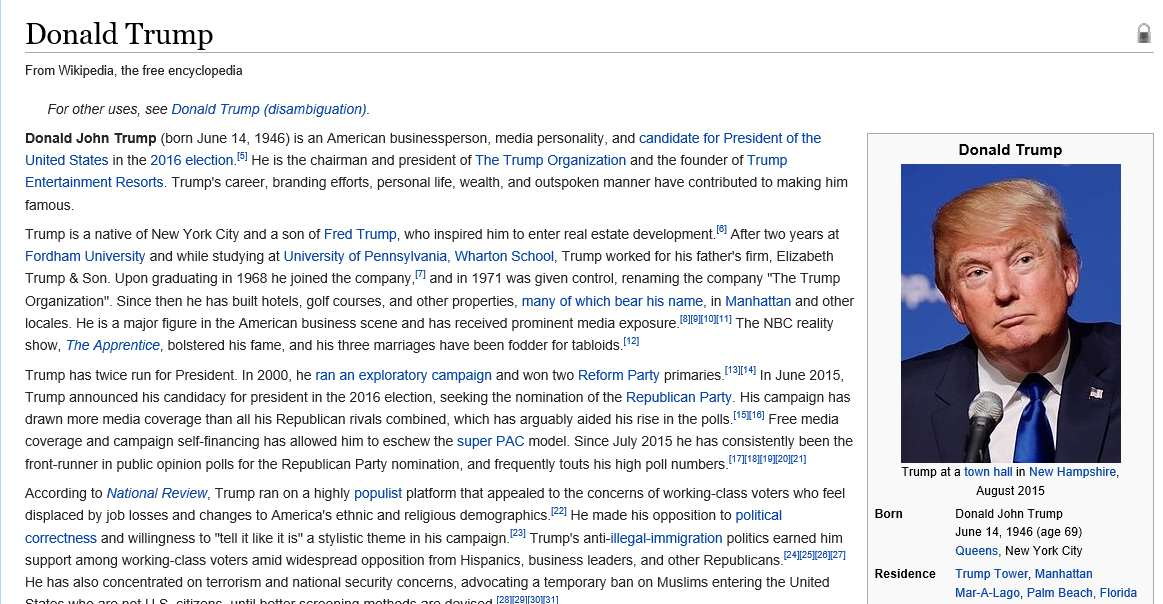 trump wiki Donald Trump Is Already Losing Election Race And The Internet Loves It