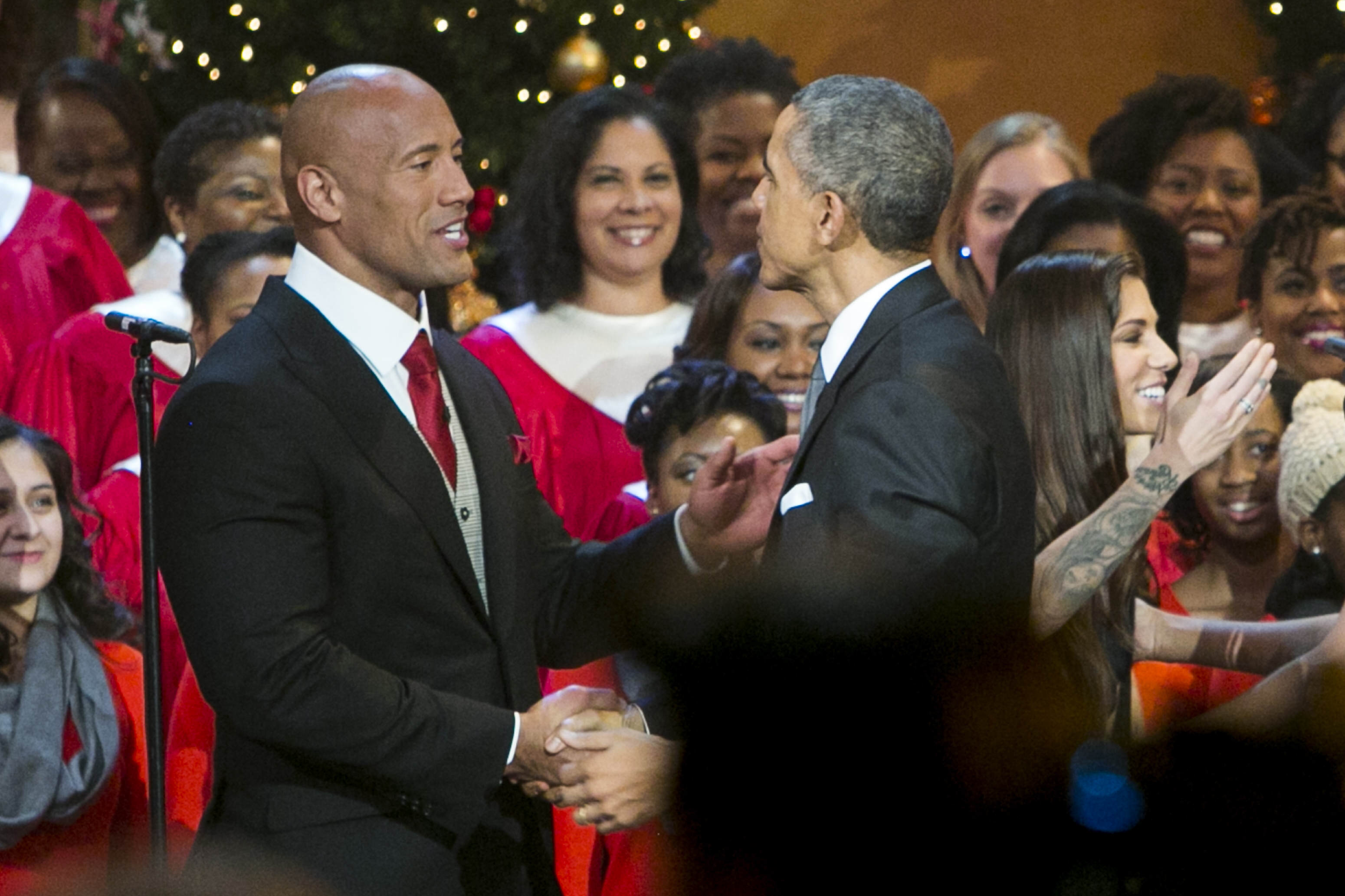 GettyImages 460472958 The Rock Considers Running For President, World Rejoices