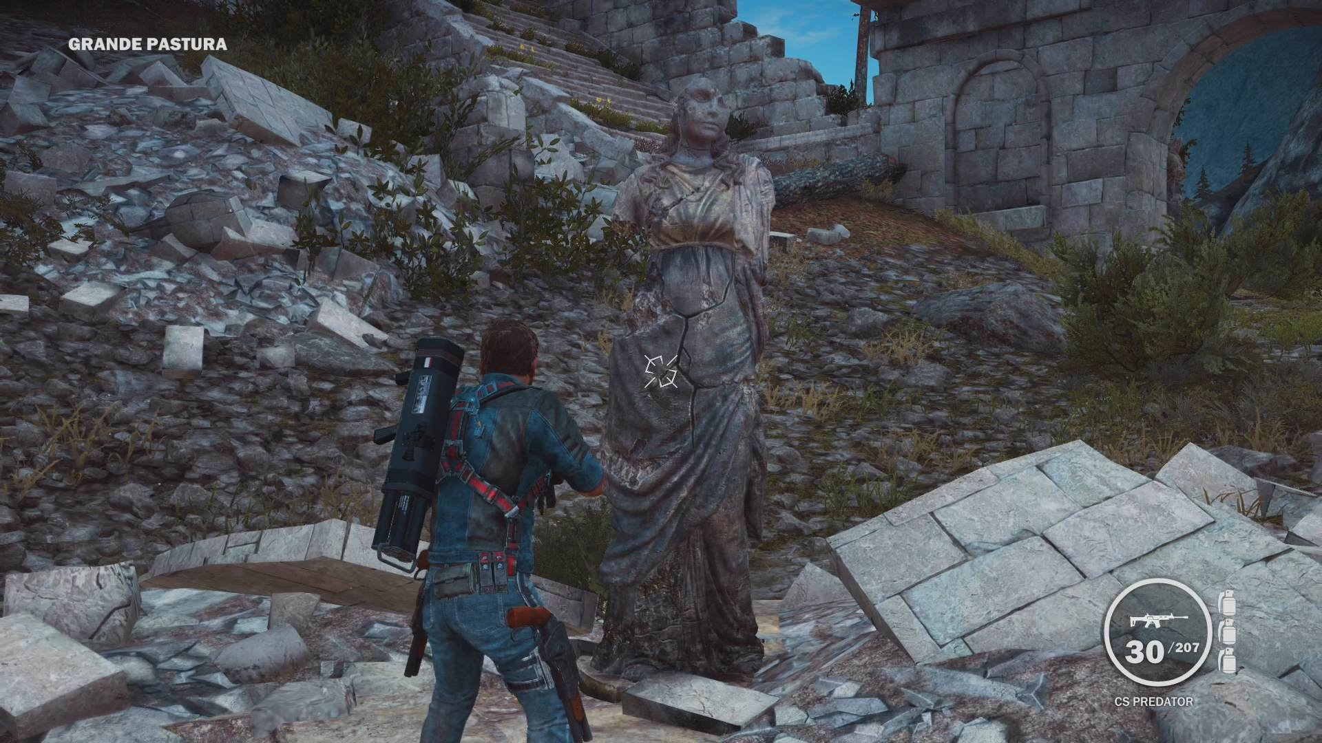 Just Cause 3 Dr. Who Weeping Angels Easter Egg Eleven Great Videogame Easter Eggs From 2014/15