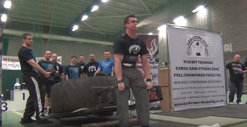 Screen Shot 2016 03 30 at 11.40.33 Strongman Repeatedly Projectile Vomits During Deadlift, Carries On Like A Trooper