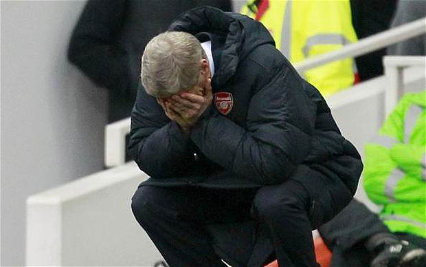 Five Things Football Taught Us This Week Wenger knees sad telegraph