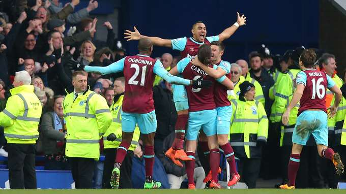 UNILAD Footballs Awards Of The Week West Ham celebration ITV