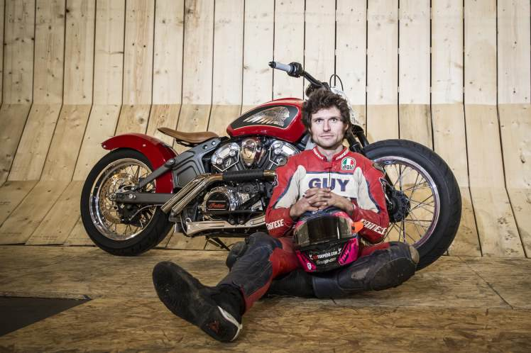 gmwod60 Guy Martin Smashes Wall Of Death Record On Live TV