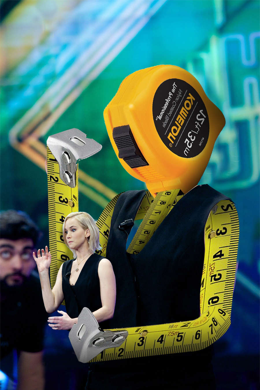 jlaw5 Photoshop Battle Of Jennifer Lawrence Holding A Tape Measure Is Genius