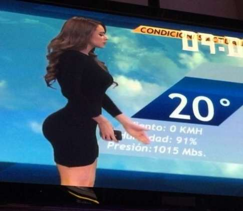 mexican weather lady The Worlds Hottest Weather Girl Confuses Audiences With Expanding Bum