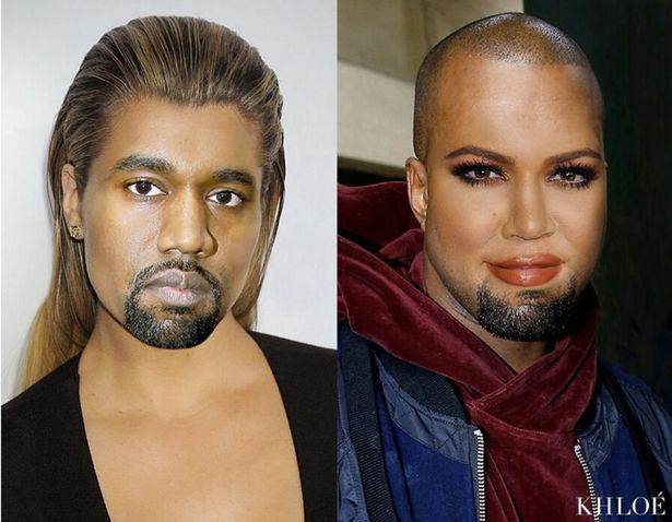 swap1 Khloe Kardashians Face Swap With Kanye Will Haunt Your Dreams