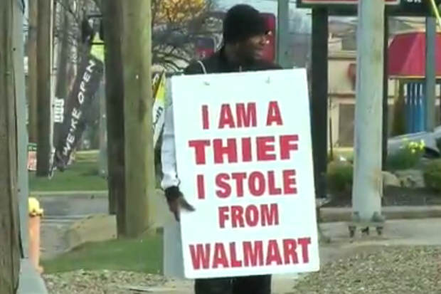 Judge Gets Creative With Embarrassing Punishment For Thief walmart thief