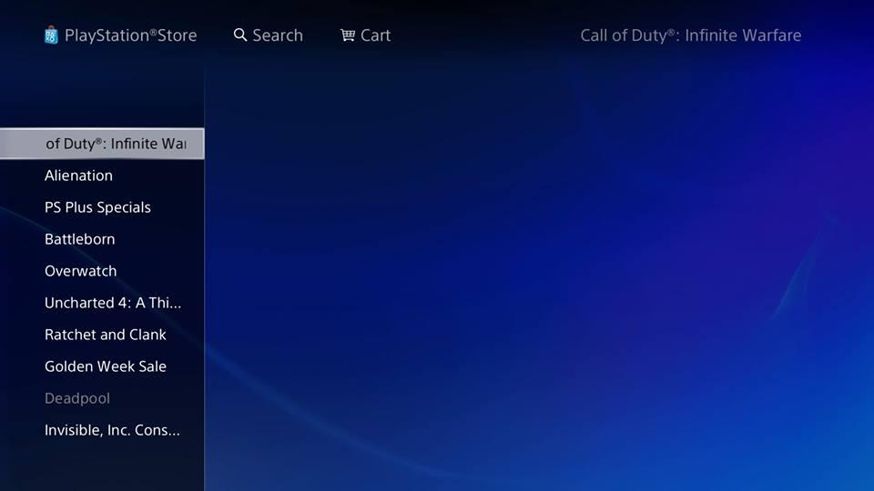 Title For Next Call Of Duty Leaks On PlayStation Store 3054140 cod1