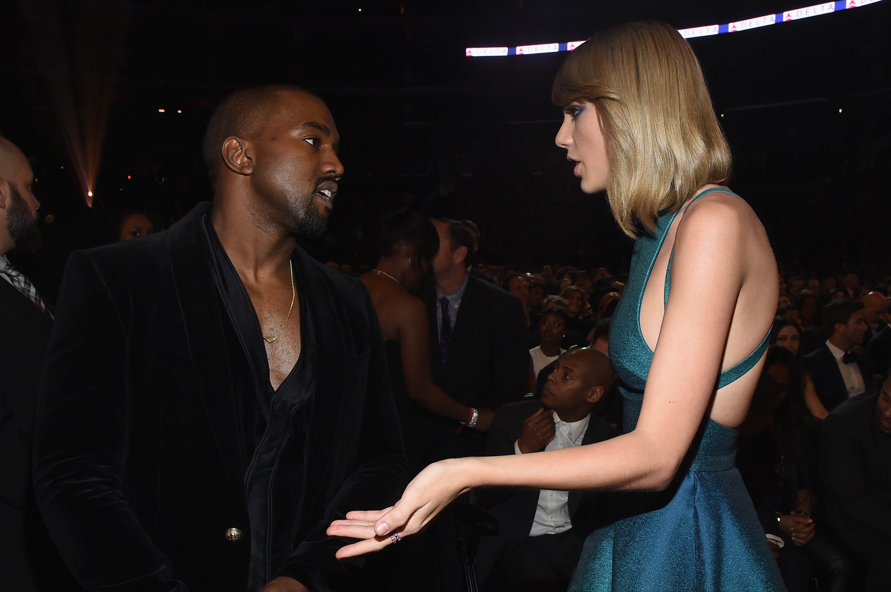 GettyImages 463036374 Kanye West Is Speaking Out About Taylor Swift Again