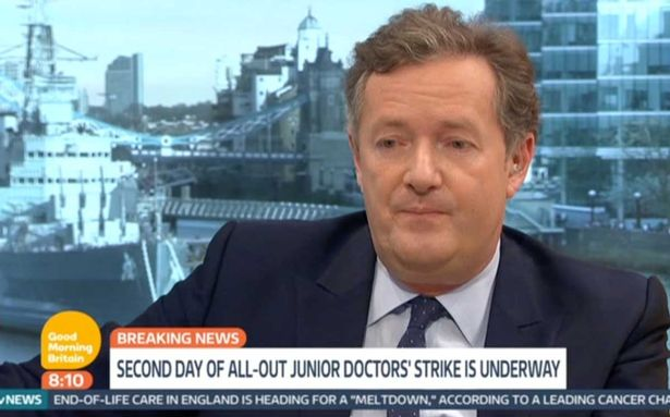 Junior doctor shuts down Piers Morgan after he suggests they are striking for more money 1 Junior Doctor Shuts Down Piers Morgans Suggestion Theyre Being Greedy