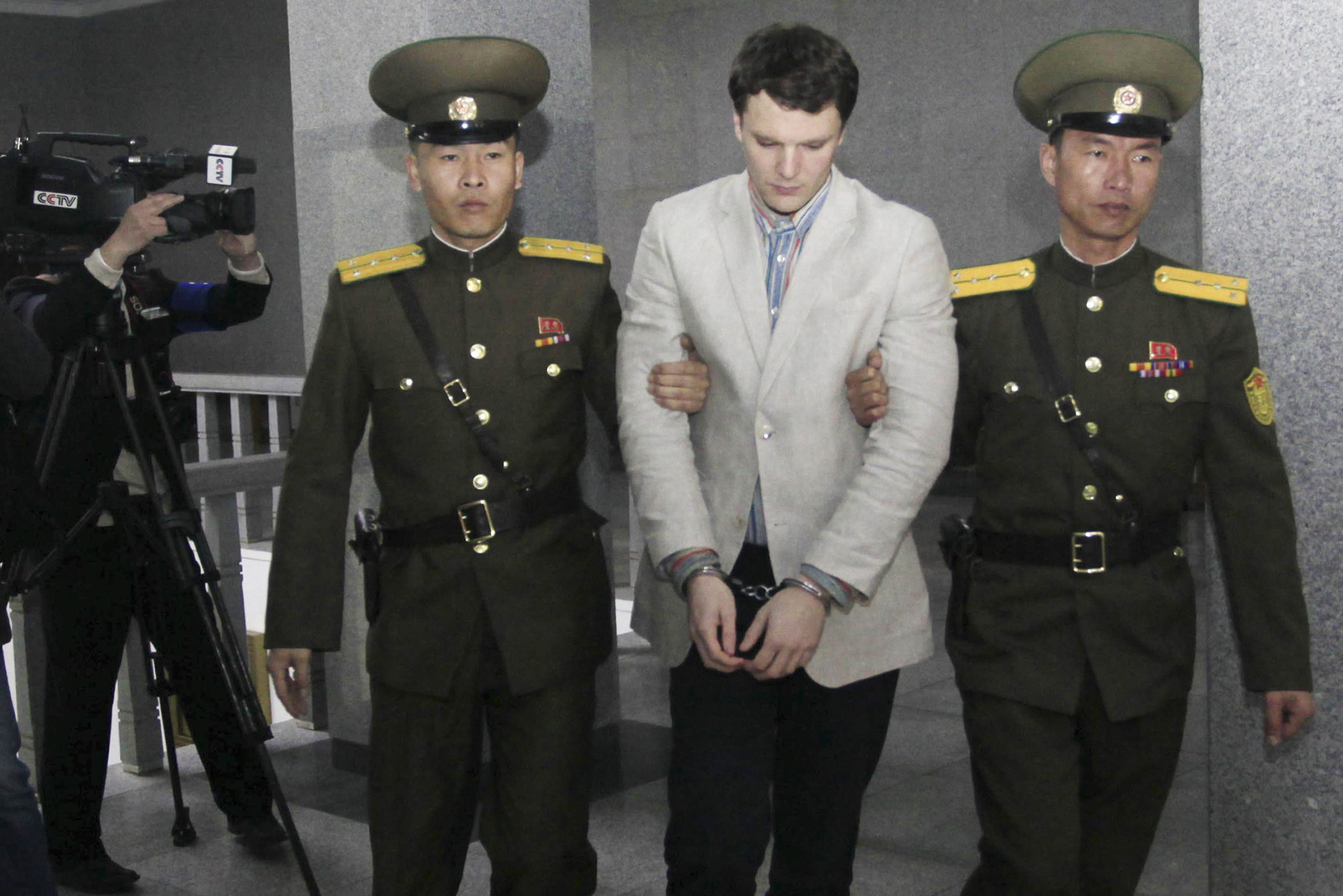 PA 25839322 North Korean Escapee Says U.S. Student Faces Horrific Life In Auschwitz Labour Camps