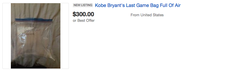 Screen Shot 2016 04 18 at 15.10.23 People Are Seriously Bidding On Air From Kobe Bryants Last Game