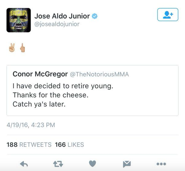 Screen Shot 2016 04 20 at 16.04.28 Conor McGregor Retirement Draws Mixed Response From Fellow Pros
