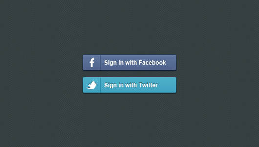 Facebook Could Be Changing The Way People Access Their Site Sign in With Facebook Twitter Buttons Dark