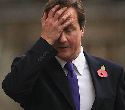 David Cameron Speaks Out For First Time Since Admitting Dads Offshore Trust cameron face palm