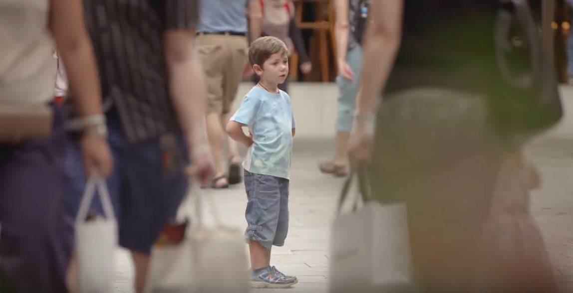 Thousands Of People Ignore Lost Kids In Eye Opening Social Experiment child1