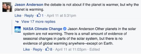 fb4 NASA Is Shutting Down Global Warming Deniers On Bill Nyes Facebook
