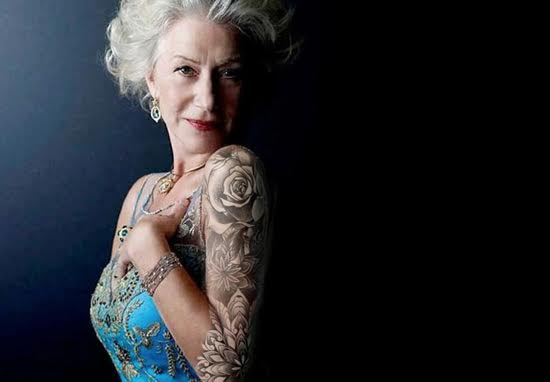 helenweb Helen Mirren Says She Wants A Sleeve Tattoo, Proves Shes An Absolute Badass