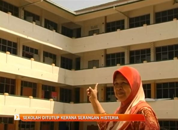Malaysian School Shuts Down After Ghostly Figure Causes Mass Hysteria malay1