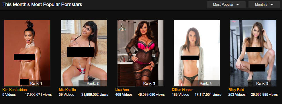Pornhubs No.1 Porn Star For Month Is Pretty Surprising pornhub