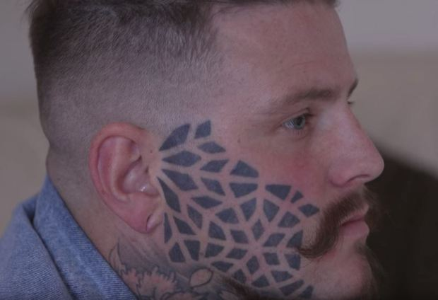 Man Speaks Out About How His Life Changed After Getting Face Tattoo sean 4
